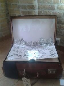 Exposition valises d'artiste, Dunkerque, détail