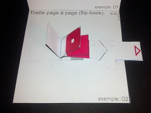 "Fiche technique Michel Ferrier, ""flip book"", Institut du Pop-up"