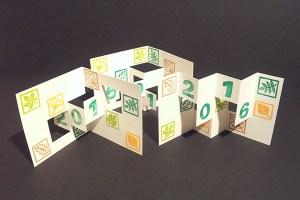 Lot des 3 cartes de voeux 2016, motifs arboricoles