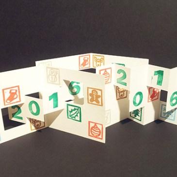 Lot des 3 cartes de voeux 2016, motifs Noël
