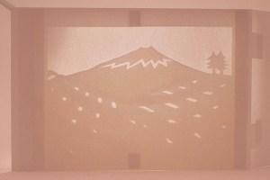 Diorama Plantations de thé, Japon, verso ombre