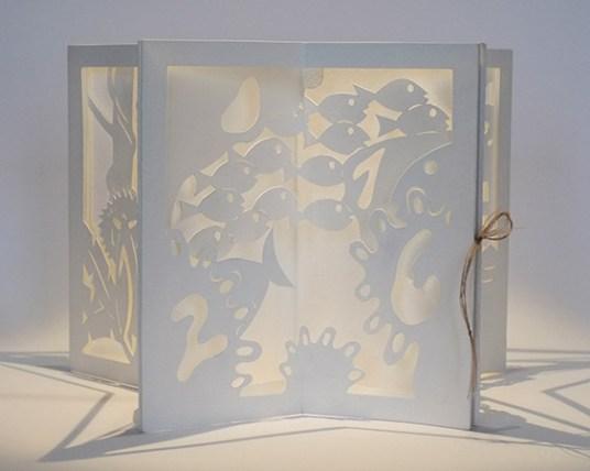 Livre pop-up carrousel de voeux 2016, face océan