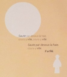Projet de livre pop-up, Le bonheur… d'après Paul Fort, Flammarion Jeunesse. Détail texte strophe 7