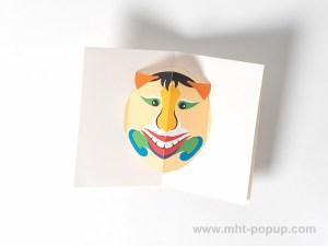 Carte Masque Vietnam, modèle Grandes dents, dessus