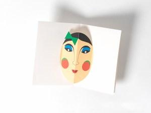 Carte Masque Vietnam, M'dame Joli minois, face