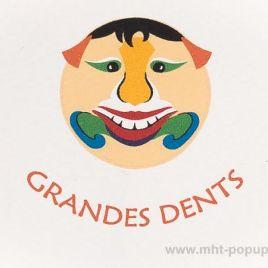 Carte Masques du Vietnam, Grandes-dents, détail recto