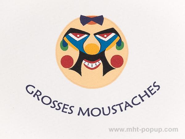 Carte Masques du Vietnam, Grosses moustaches, détail recto