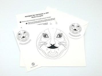 Carte pop-up Masques du Vietnam en DIY, Tigrrrou, kit d'ensemble