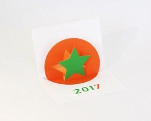 Vœux MHT Pop up 2017, version orange-vert
