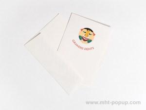Carte Masques du Vietnam, Grandes dents, carte et enveloppe