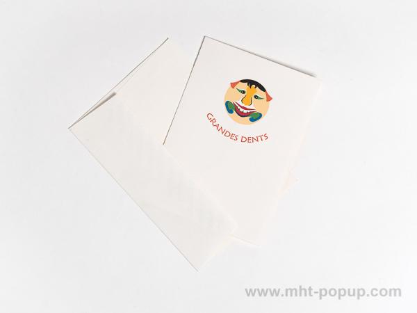 Carte pop-up Masques du Vietnam, modèle Grandes dents, carte avec enveloppe