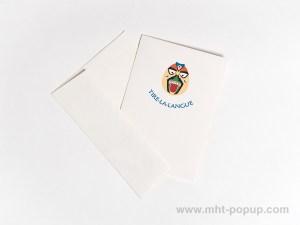 Carte Masques du Vietnam, Tire-la-langue, carte et enveloppe