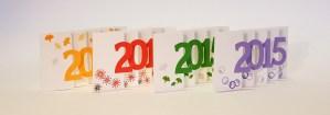 Carte de voeux 2015 MHT Pop up, papier découpé en accordéon