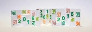 Carte de voeux 2016 avec motifs tamponnés Arboriculture