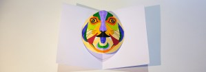 Carte pop-up Masques du Vietnamen DIY Tigrrrou finalisée