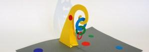 Atelier Mobile simple Calder, carte pop-up avec anneaux imbriqués