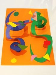 Atelier pop-up autour des spirales croisées en symétrie