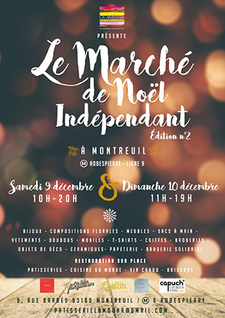 Marché de Noël indépendant de Montreuil organisé par La Moona