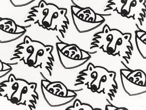 Rencontres attendues en DIY Chaperon-loup, détail intérieur non colorié