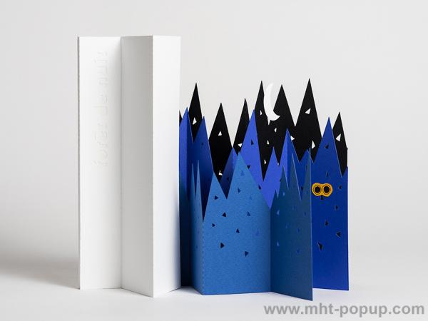 Livre d'artiste pages accordéon, Forêt de Nuit, face