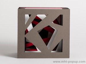 Livre d'artiste tunnel, modèle Abstraction noir, face