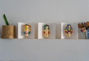 3 Cartes Masque du Vietnam mises en scène par Léa Lalonde, agence Boujou bien !