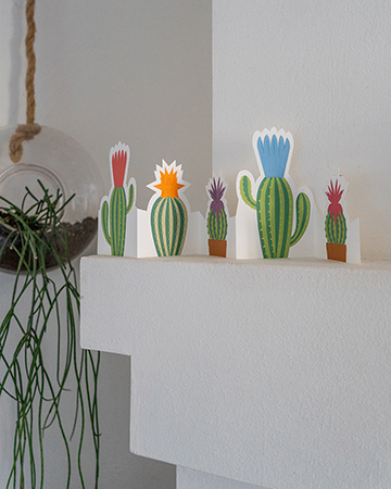 Frise cactus mise en scène par Léa Lalonde, agence Boujou bien !