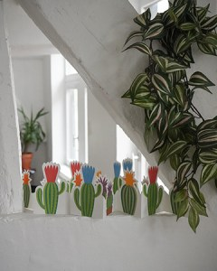 2 Frises cactus mises en scène par Léa Lalonde, agence Boujou bien !