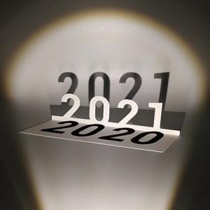 Voeux MHT Popup 2021, papier découpé de biais avec ombres projetées
