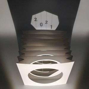 Livre tunnel de voeux de MHT Popup 2021 avec ombre projetée