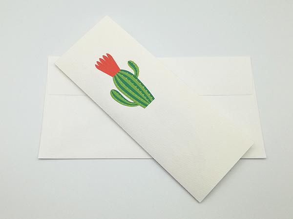 Carte pop-up Fleur de cactus, modèle fleur en éventail rouge avec enveloppe