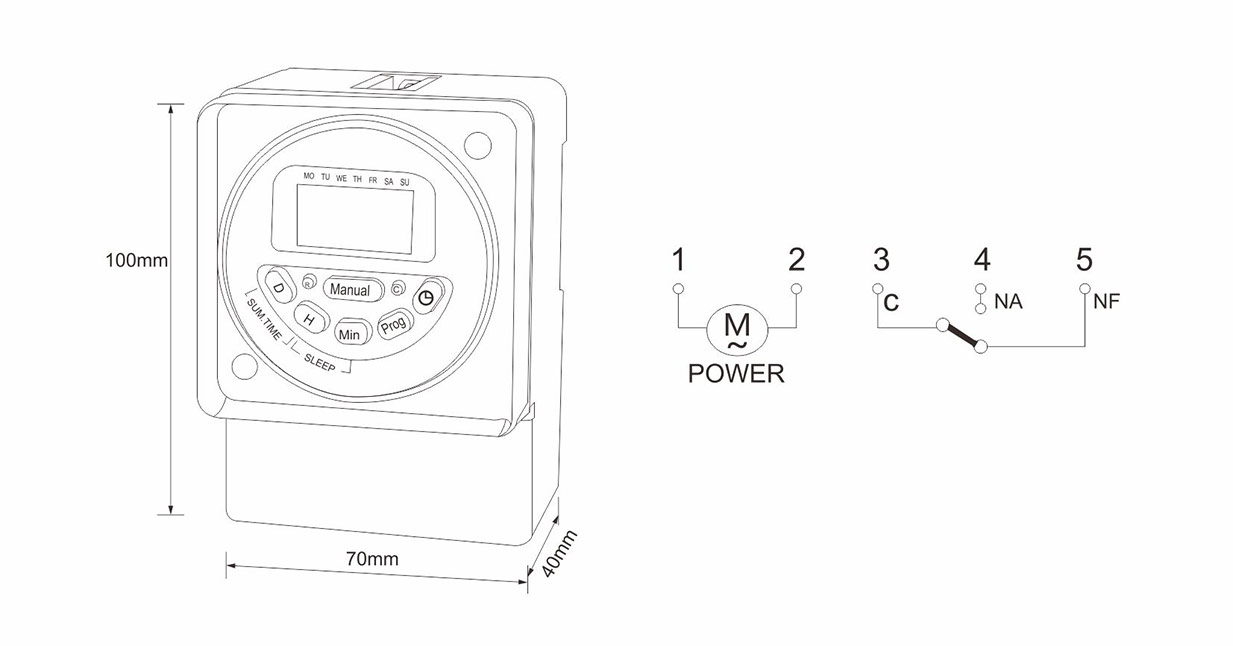 Digital Timer Switch MT190-products-ManHua Electric Co.,Ltd.
