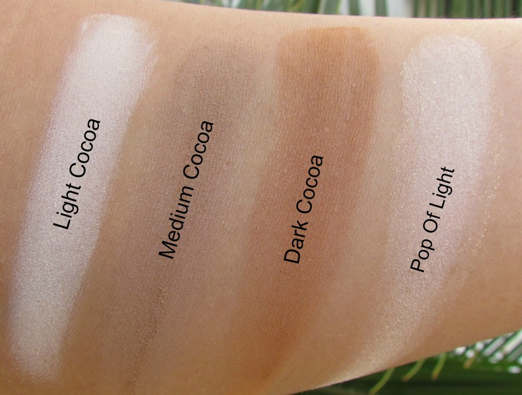 Too Faced Cocoa Contour Chiseled to Perfection Palette Swatches
