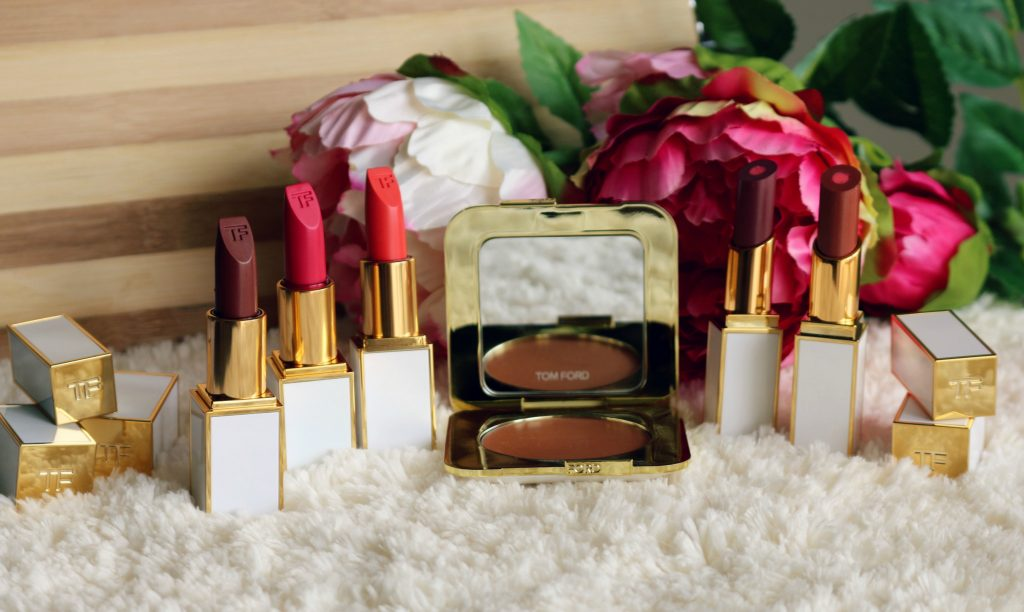 tom ford soleil collection pieno sole cream cheek color, moisturecore lip colors - otranto, cala di volpe , ultra-rich lip color - aphrodite, solar affair, temptation waits