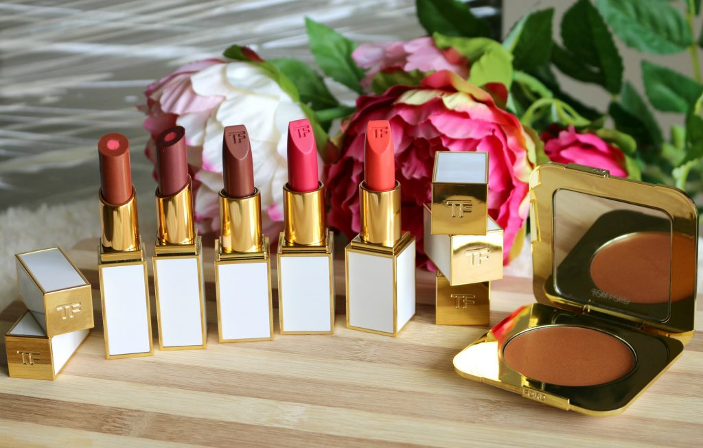 tom ford soleil collection pieno sole cream cheek color, moisturecore lip colors - otranto, cala di volpe , ultra-rich lip color - aphrodite, solar affair, temptation waits