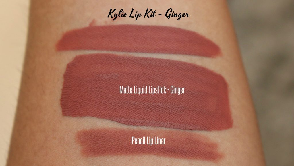 Kylie matte lip kit ginger swatches