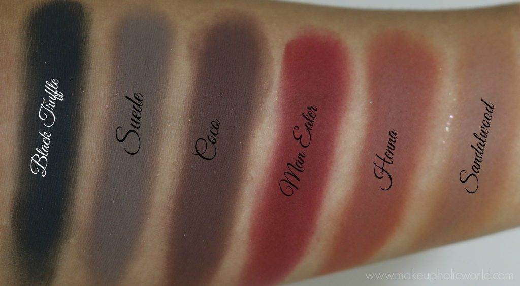 huda beauty rose gold palette swatches