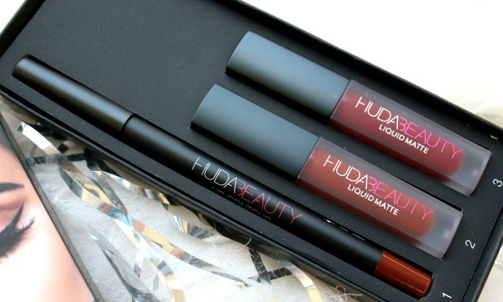 Huda Beauty Lip Contour Set - Vixen { Liquid Mattes in Vixen, Famous; Lip Contour pencil in Vixen }