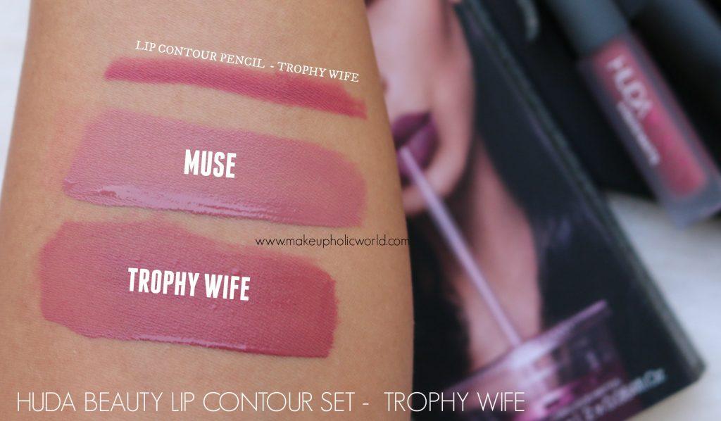 huda beauty liquid matte trophy wife, muse review