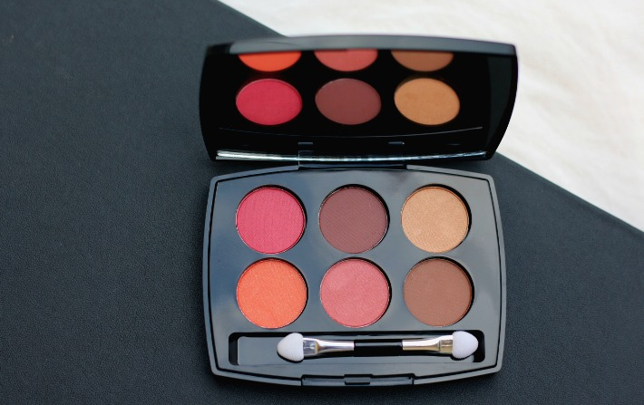 lakme illuminating eyeshadow palette french rose swatches