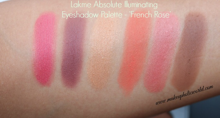 Lakmé Eyeshadow Palette - French Rose swatches
