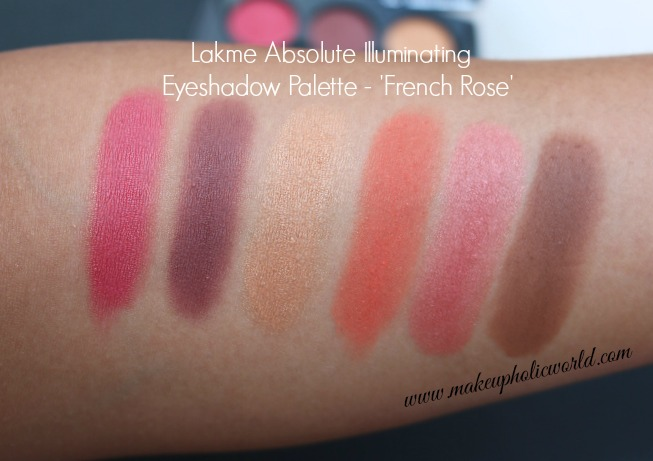 Lakmé Absolute Illuminating Eyeshadow Palette - French Rose swatches