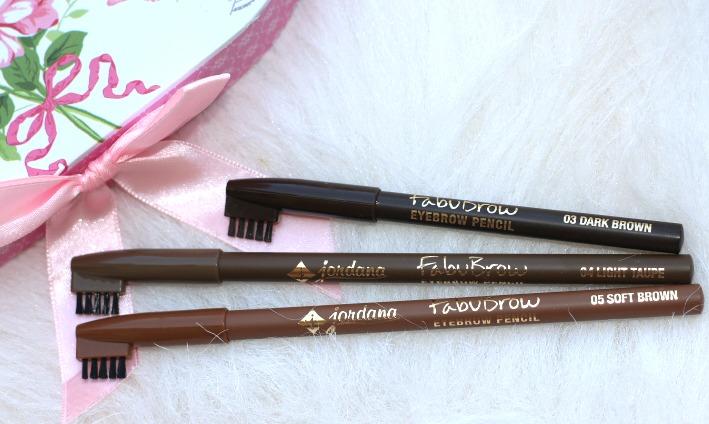 Jordana Cosmetics Fabubrow Eyebrow Pencil - dark brown.soft brown, light taupe review