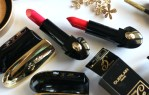 Guerlain Holiday 2017 Collection | ROUGE G EXCEPTIONAL COMPLETE LIP COLOURS - Glamorous Cherry (822)  &  Flaming Red (823)
