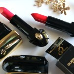 Guerlain Holiday 2017 Collection | ROUGE G EXCEPTIONAL COMPLETE LIP COLOURS – Glamorous Cherry (822)  &  Flaming Red (823)