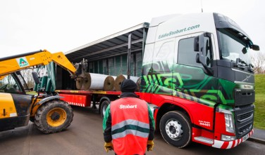 Carlisle United Football Club welcomes very special delivery from Eddie Stobart unloading