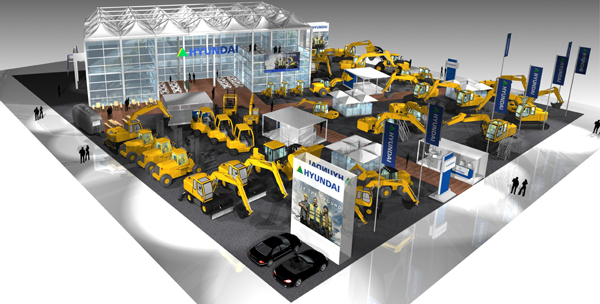 Hyundai launch new models to the latest diesel forklift range at Bauma 1