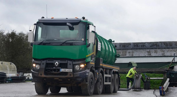 Renault Trucks Range K is 'Powerhouse off road' for Robin Liquid Waste Disposal