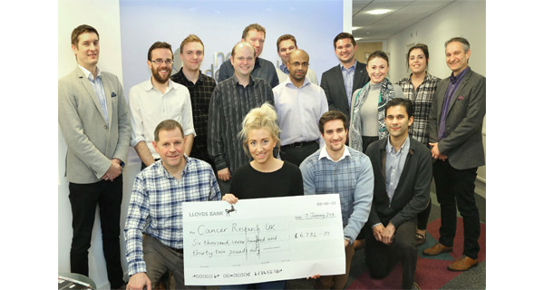 NetDespatch raises almost £7,000 for Cancer Research UK
