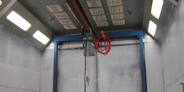 J D Neuhaus air operated hoists are the safe choice for spray booth operations